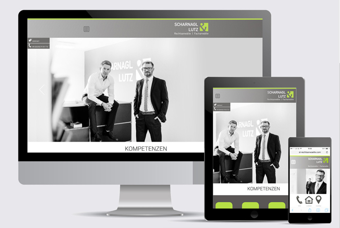 kreativ-fee Referenz Scharnagl Lutz Rechtsanwälte Website