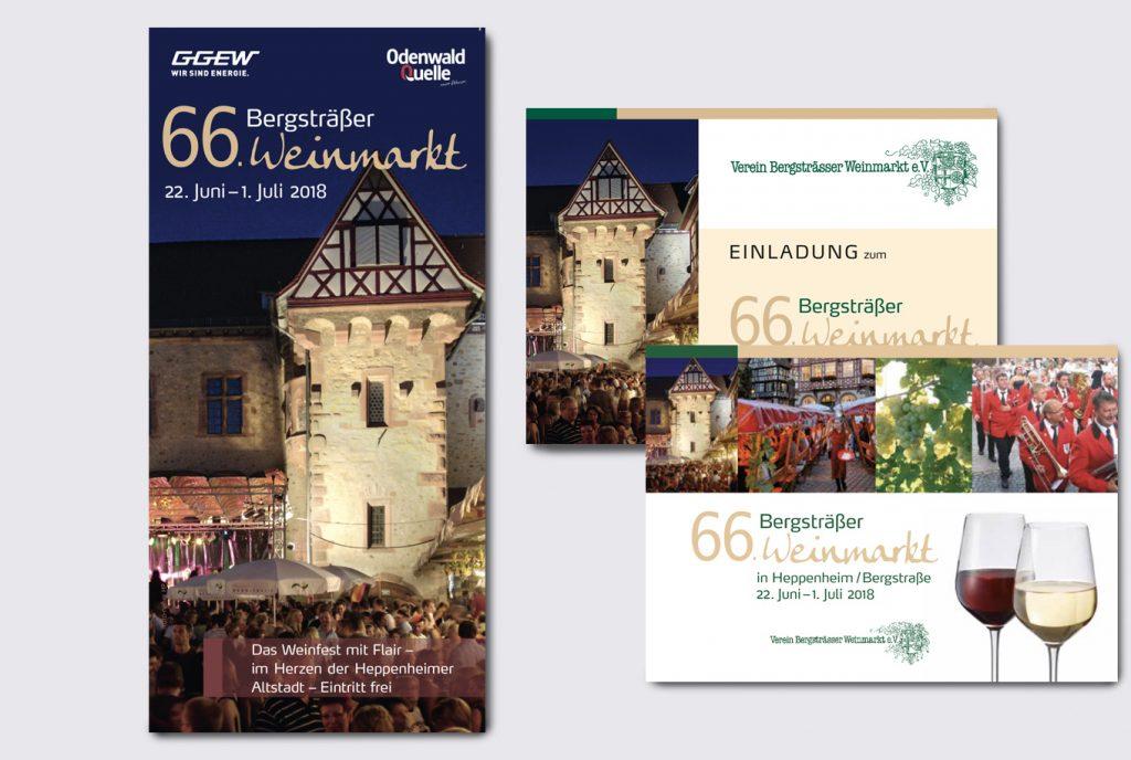 kreativ-fee Flyer Referenz Weinmarkt Verein Heppenheim
