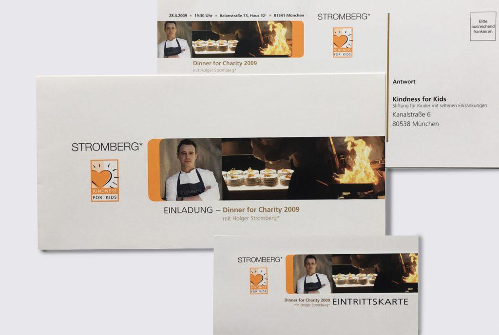 kreativ-fee Referenz Dinner for Charity Stromberg Kindness for Kids