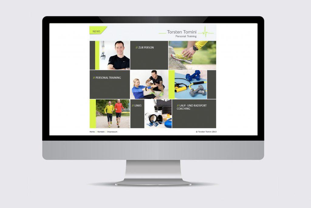 kreativ-fee Referenz Website Torsten Tomini Personal Training