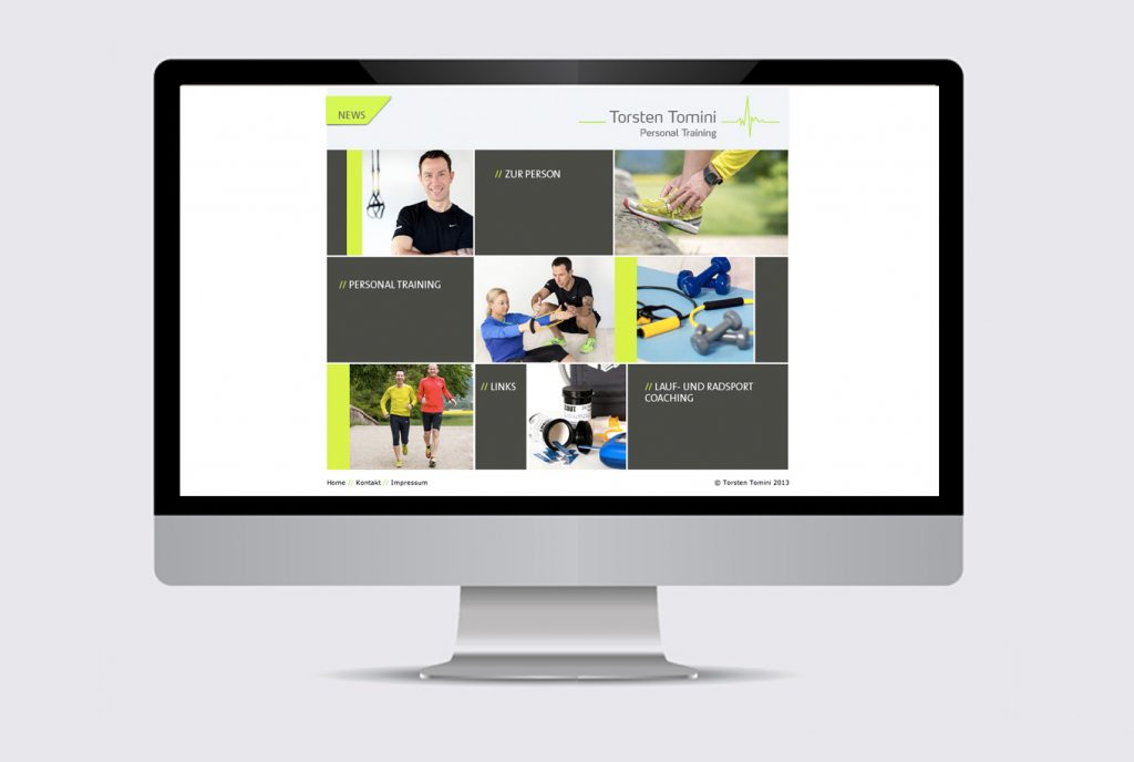 kreativ-fee Referenz Website Torsten Tomini Personal Training